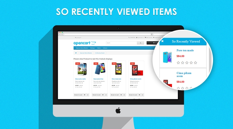So Recently Viewed Items - Responsive OpenCart Module