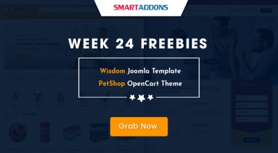 Week 24 Freebies: Get Sj Wisdom Joomla Template & So PetShop OpenCart Theme for FREE