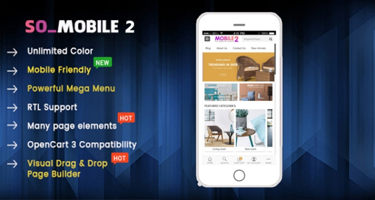 So Mobile 2 - Multipurpose OpenCart 3 Theme (For Mobile Only)