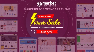 Thankful Offer: 35% for eMarket OpenCart 3 within 3 days!