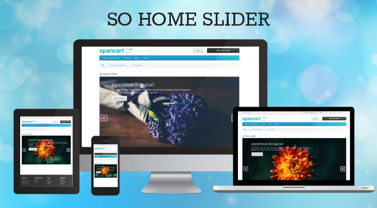 So Home Slider - Responsive OpenCart 3.0.x & OpenCart 2.x Module