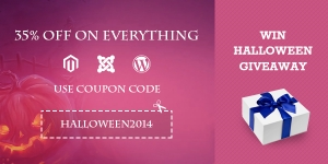 Save 35% OFF on everything and win Halloween giveaway with 10 big prizes