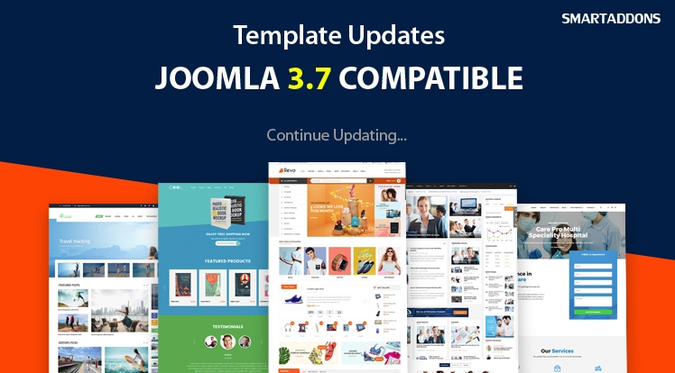 HOT: Joomla 3.7 Templates Upgraded List - Continuous Updating