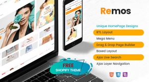 Ss Remos - Responsive Free Shopify Theme with Sections Ready