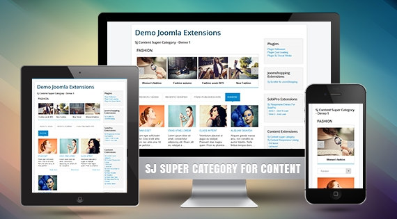 SJ Super Category for Content - Responsive Joomla! Module