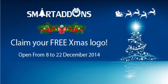 Christmas Freebies: FREE Xmas Logo designed by SmartAddons