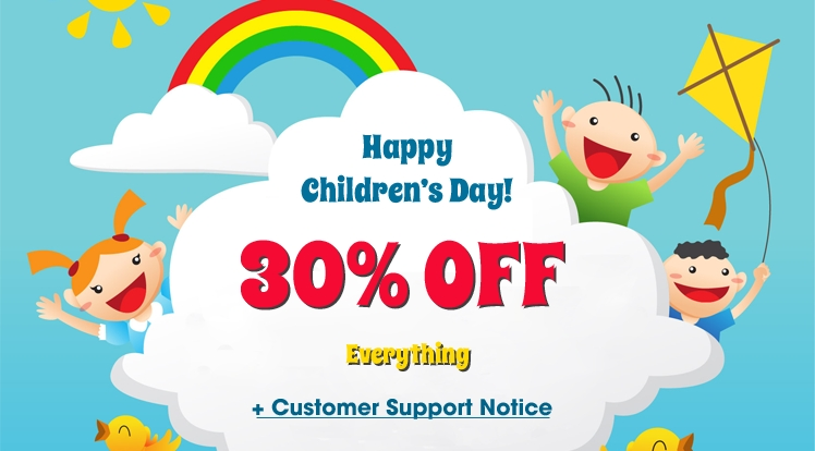 Happy Children's Day 2018: Save 30% OFF on Everything