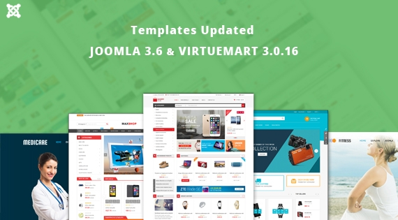 [Update] 10+ Joomla Templates Updated for Joomla 3.6 & VirtueMart 3.0.16