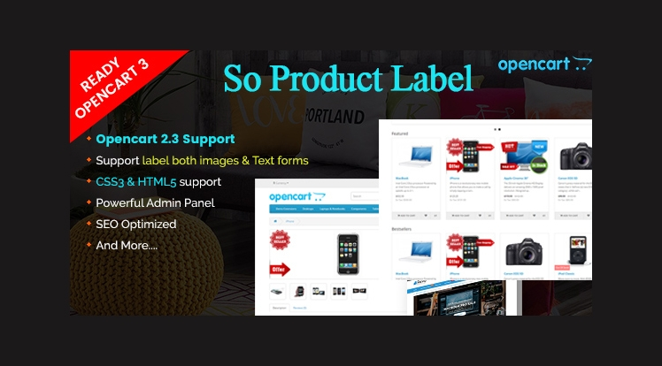 So Product Label - Advanced Product Label OpenCart 3 & 23 Module
