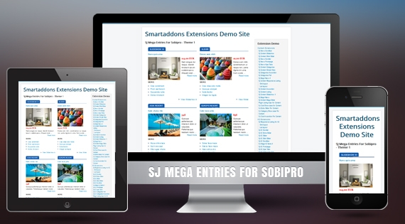 SJ Mega Entries for SobiPro - Joomla! Module