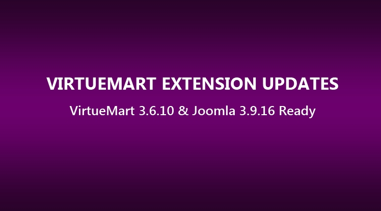 VirtueMart Extensions Updated to Latest VirtueMart 3.6.10 & Joomla 3.9.16