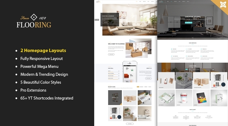 SJ Flooring - An Ideal Responsive Joomla Template for Interior Website