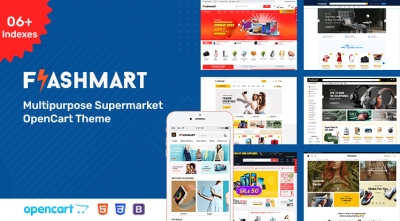 FlashMart - Multipurpose Supermarket OpenCart 3 Theme