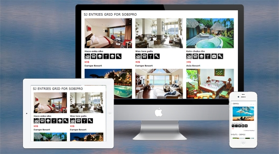 SJ Entries Grid for SobiPro - Responsive Joomla! Module