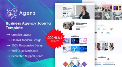 Sj Agenz - Creative Agency Joomla Template | 25% OFF All Products