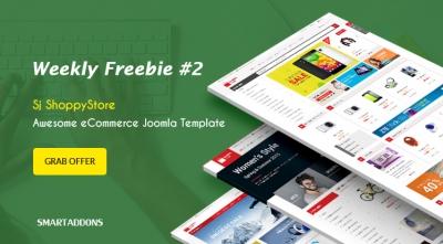 Weekly Freebie #2: Grab Sj ShoppyStore Template Package For Free
