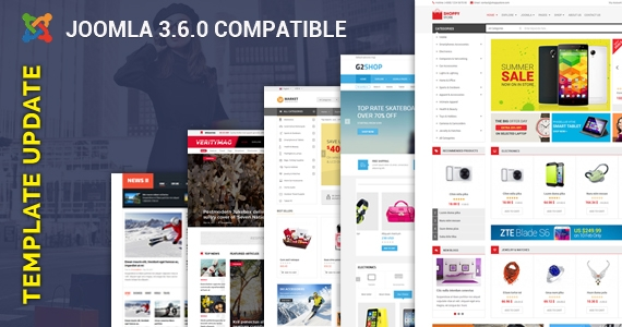 [Update] 25+ Joomla Templates Updated for Joomla 3.6 & Bug Fixes