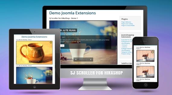 SJ Scroller for HikaShop - Responsive Joomla! Module