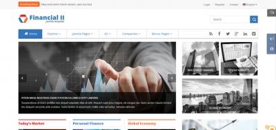SJ Financial II - Best of Responsive Joomla Financial Template