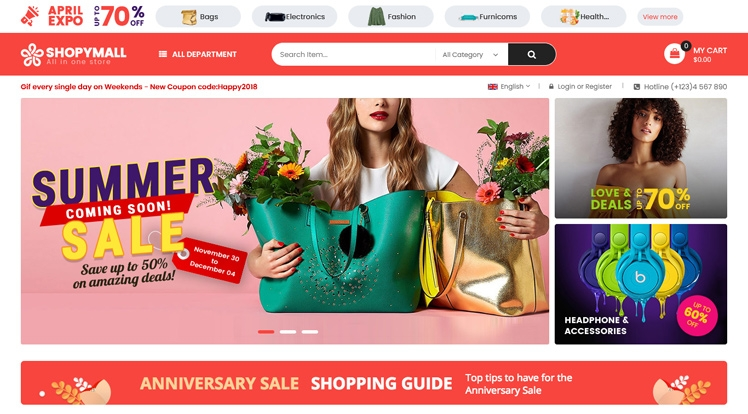 ShopyMall - Beautiful Multi-Vendor MarketPlace WordPress Theme