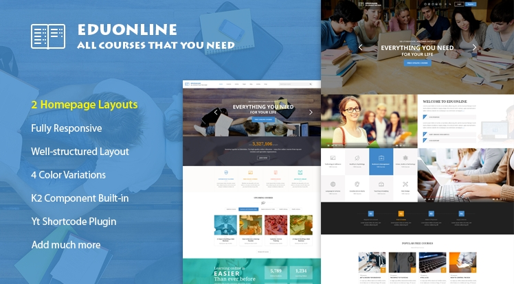 SJ Eduonline - Responsive Education Joomla Template