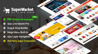 Design #8 Available in SuperMarket Shopify Theme - Beautiful Demo for Organic, Fruit, Vegetable Store