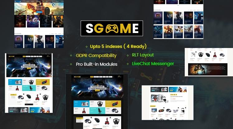SGame- Responsive Games OpenCart Theme