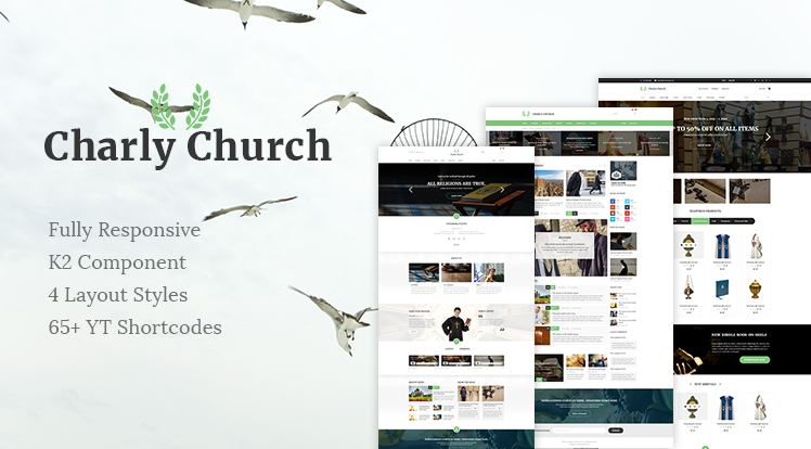 SJ Charly - Responsive Joomla Church Template