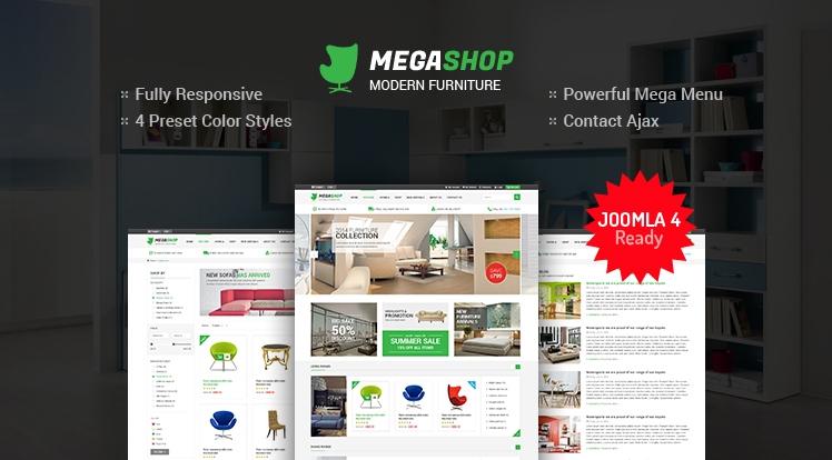 SJ MegaShop - Responsive eCommerce Joomla Template