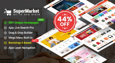 Design #6 Available in SuperMarket Shopify Theme - Save 44% Off Before the 7th Demo Release