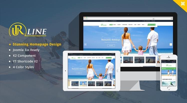 SJ Urline - Responsive Travel Joomla Template