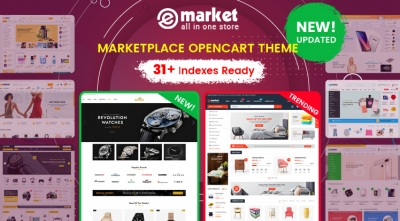 Design #31 Available in eMarket - Best-selling Marketplace OpenCart Theme