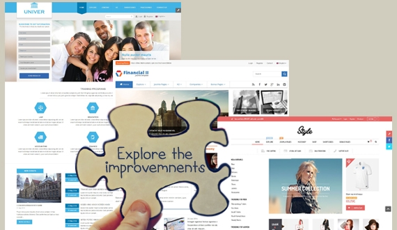 What's new in Joomla template improvements on 45th week