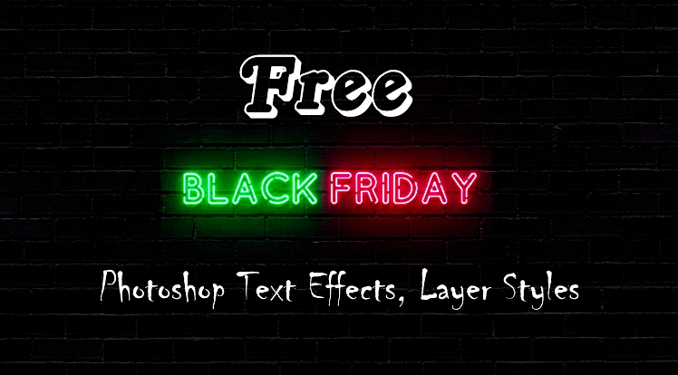 06 Elegant Free Black Friday Photoshop Text Effects, Layer Styles