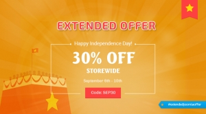 Extended Offer: 30% OFF Everything at SmartAddons