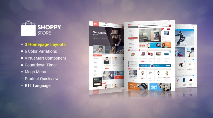 SJ ShoppyStore - Responsive Joomla eCommerce Template