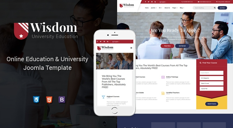 Sj Wisdom - Premium Education Joomla Template for College & Universities