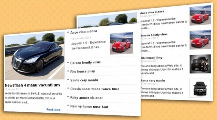 SJ News FrontPage - Joomla! Module