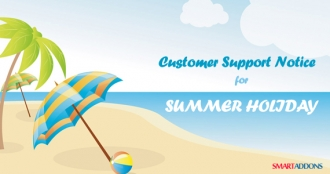 Customer Support Notice for Summer Holiday