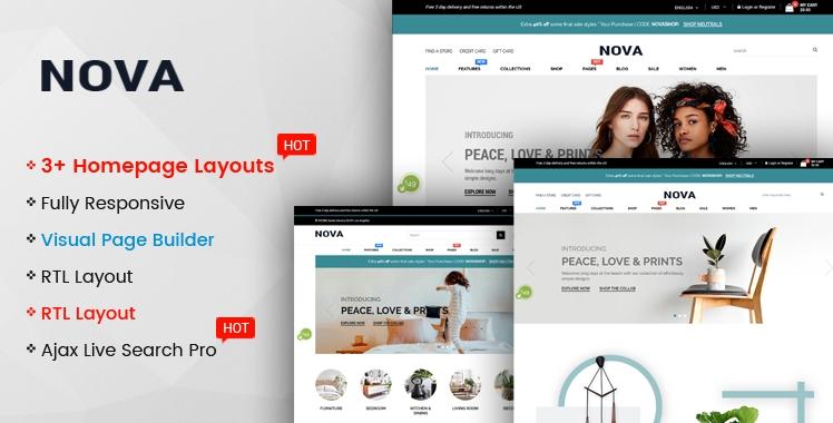 Ss Nova - Multipurpose Drag & Drop Shopify Responsive Theme