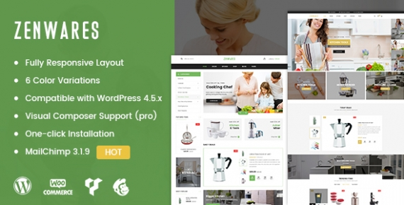 SW Zenwares - An Elegant Kitchen World Design for WooCommerce WordPress Theme