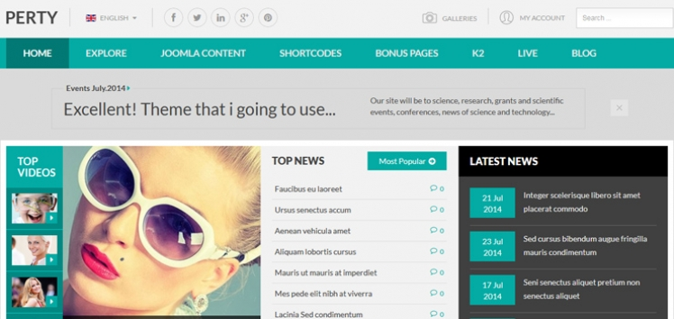 SJ Perty Released - An Exquisite News, Magazine Joomla Template