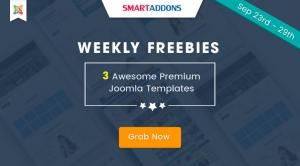 Weekly Freebie #3: Grab 3 Premium Joomla Templates For FREE