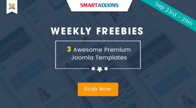 Weekly Freebie #3: Grab 3 Premium Joomla Templates For FREE