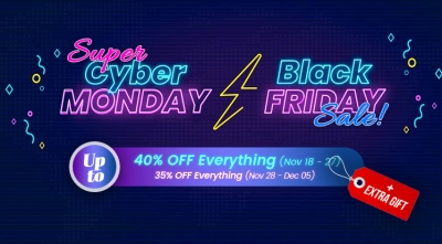 Black Friday & Cyber Monday 2019 Sale: Up to 40% OFF Storewide & Extra Gift