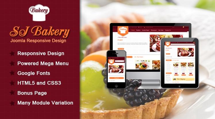 SJ Bakery - Responsive Joomla Bakery shops Template