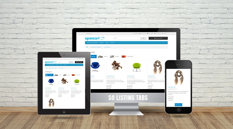 So Listing Tabs - Responsive OpenCart 3.0.x & OpenCart 2.x Module