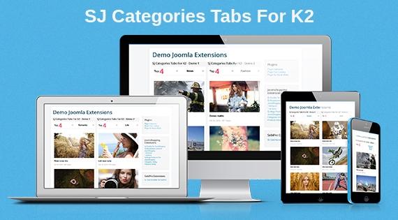 SJ Categories Tabs For K2 - Responsive Joomla! Module