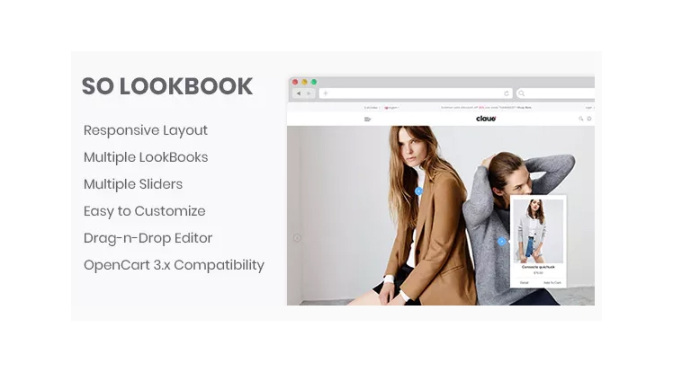 So LookBook - Responsive OpenCart 3 Module