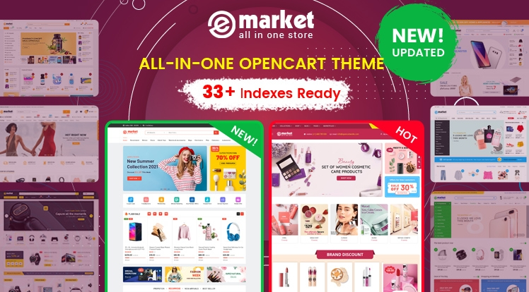 Design #33 Available in eMarket Bestselling OpenCart Theme